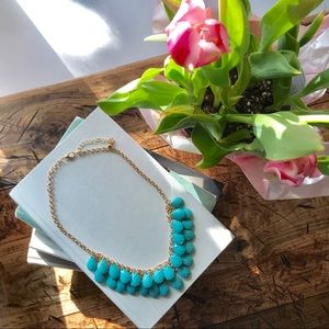 Spring Time Teal and Gold Teardrop Necklace 💧